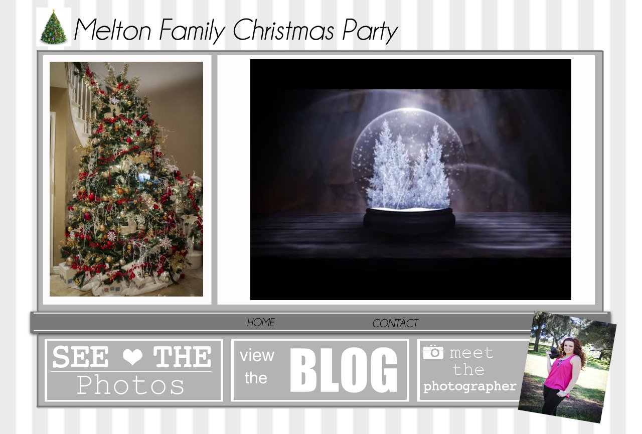 MELTON FAMILY CHRISTMAS PARTY HOME PAGE