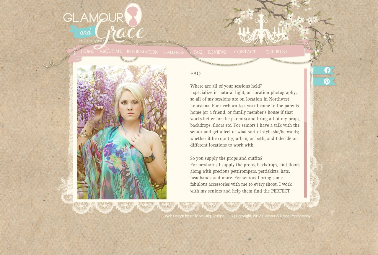 Glamour and Grace Photography - FAQ