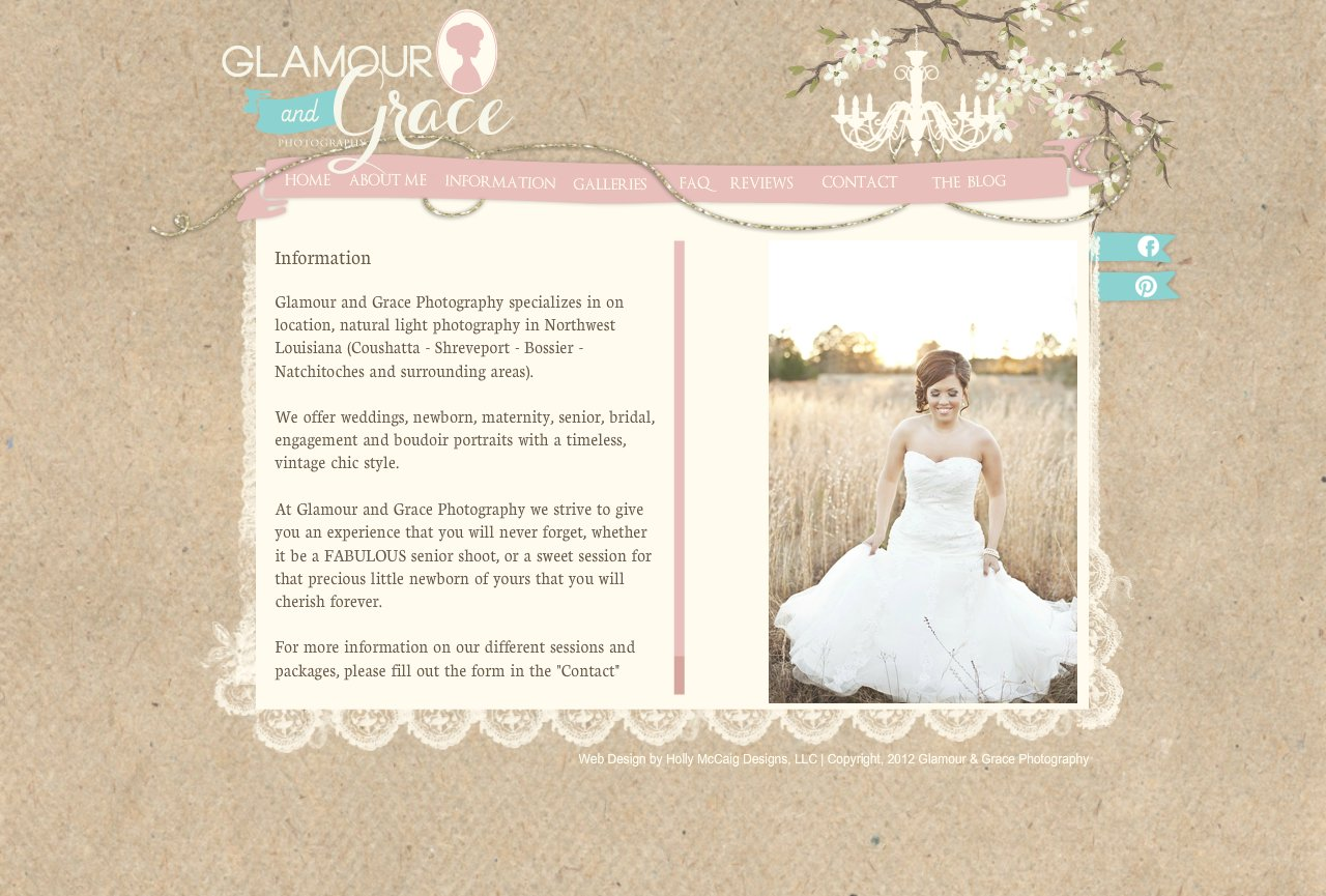 Glamour and Grace Photography - Information