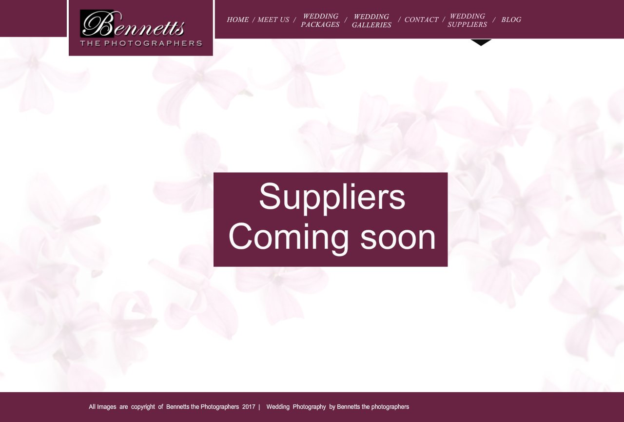 Bennetts the Photographers - Wedding suppliers
