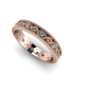 Rose Gold and Diamond Woven Band