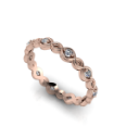 Petite Twisted Diamond Band
