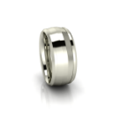 Custom Mens Wedding Band in White Gold