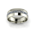 Men's Channel Set Band with Asscher Cut Diamonds