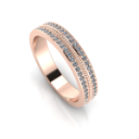 Classic Rose Gold and Diamond Wedding Band