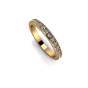 Prong Set Eternity Band with Edge in Yellow Gold