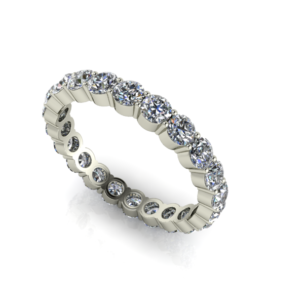 Shared Prong Diamond Eternity Band In White Gold