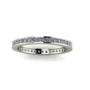 Thin Channel set Diamond Eternity Band