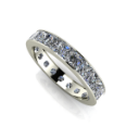 Large Princess Cut Channel Set Diamond Eternity Band