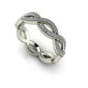Open Woven Diamond Band