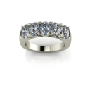 Anniversary Style Ring with Oval Diamonds