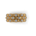 18kt Yellow Gold and Diamond Bubble Band