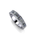 Channel Set Baguette Half Eternity Band