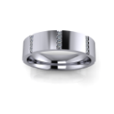 Modern Flat Men's Band with Vertically Set Diamonds
