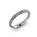 Thin Domed Pave Diamond Wedding Band