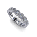 Bezel Set Diamond Eternity Band with Milgrain