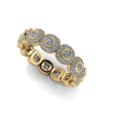 Bezel Set Diamodn Eternity Band with Halos