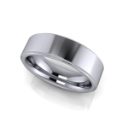 Flat Edge Men's Ring in Platinum