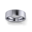 Flat Grooved Men's Wedding Band
