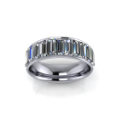 Wide Full Eternity Diamond Baguette Band