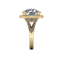 Side View of 12 Carat Yellow Gold Diamond Engagement Ring
