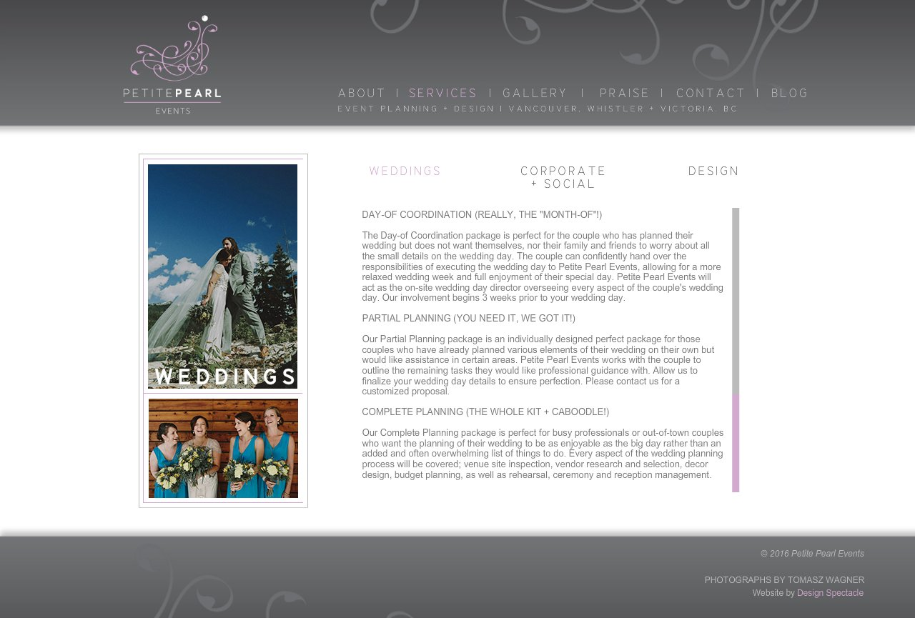 Wedding services: a selection of sites