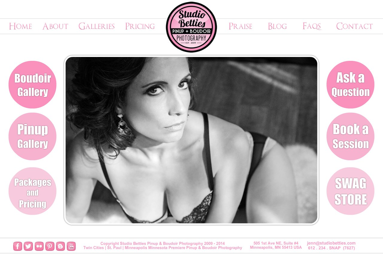 Studio Betties  Pinup & Boudoir Photography Home