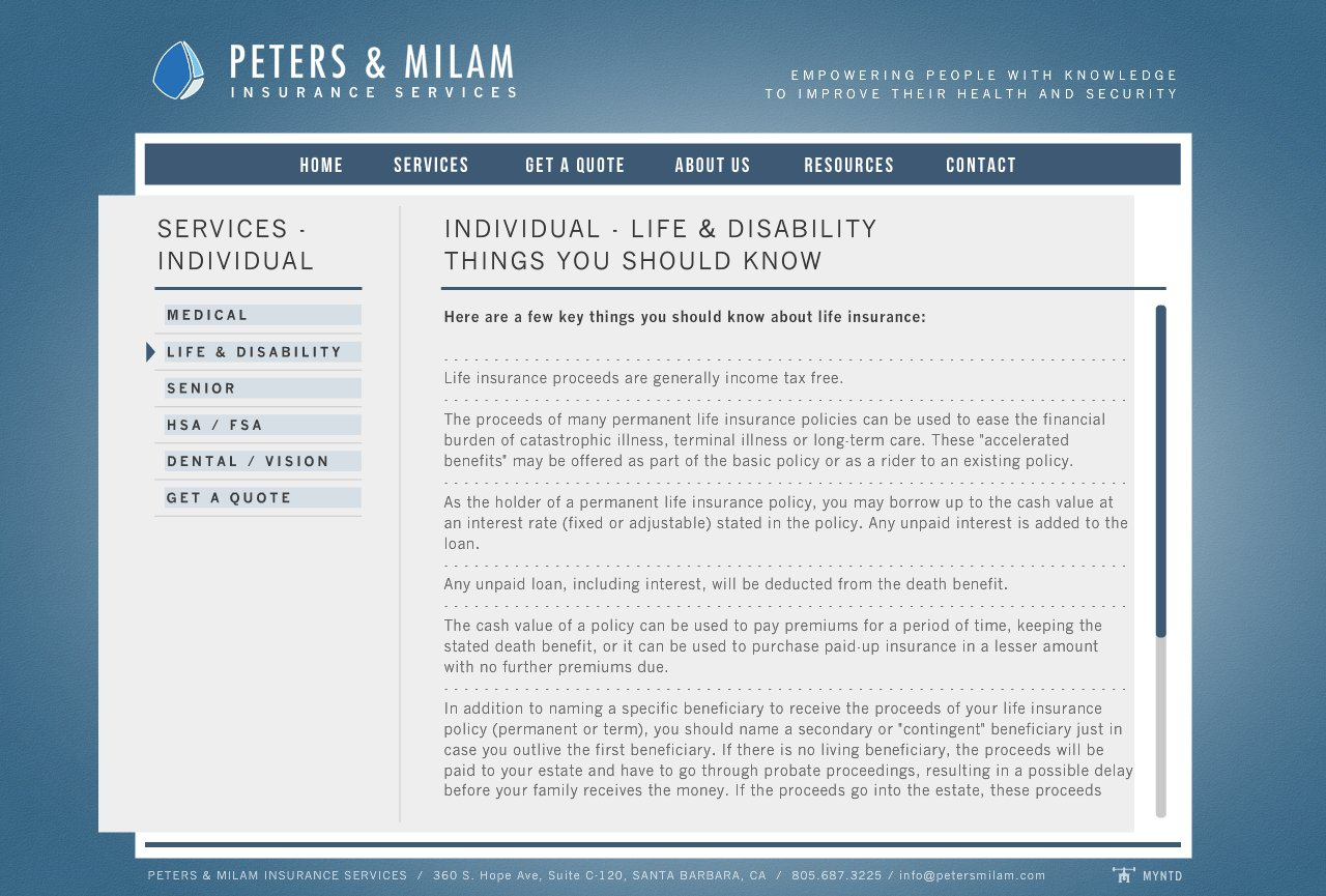 Peters U0026 Milam Insurance Services   Services Santa Barbara Individual  Permanent Life Insurance 1