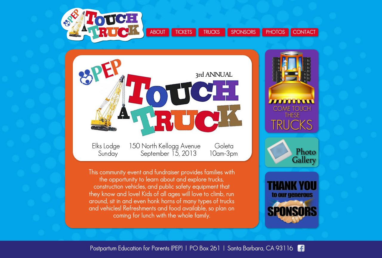 PEP Touch-A-Truck :: ABOUT