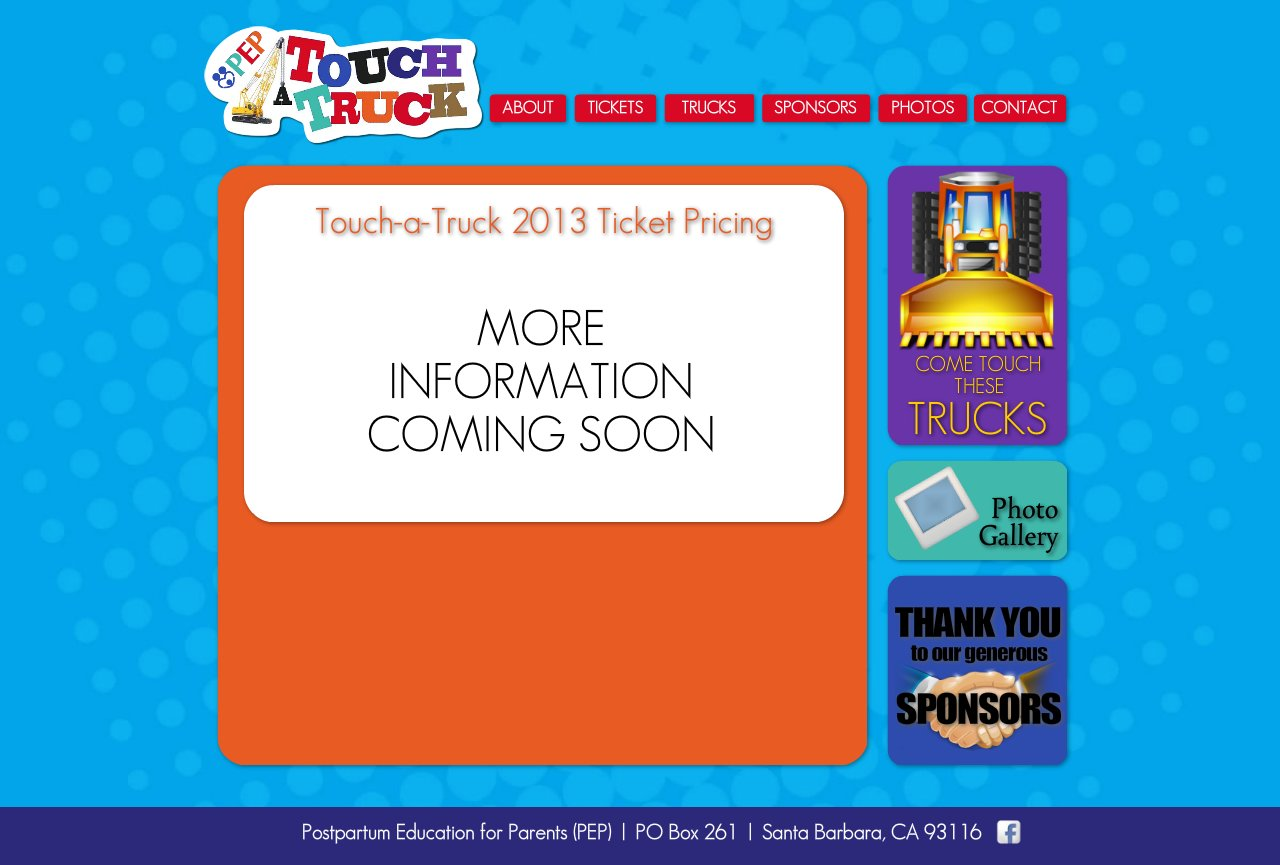 PEP Touch-A-Truck :: TICKETS