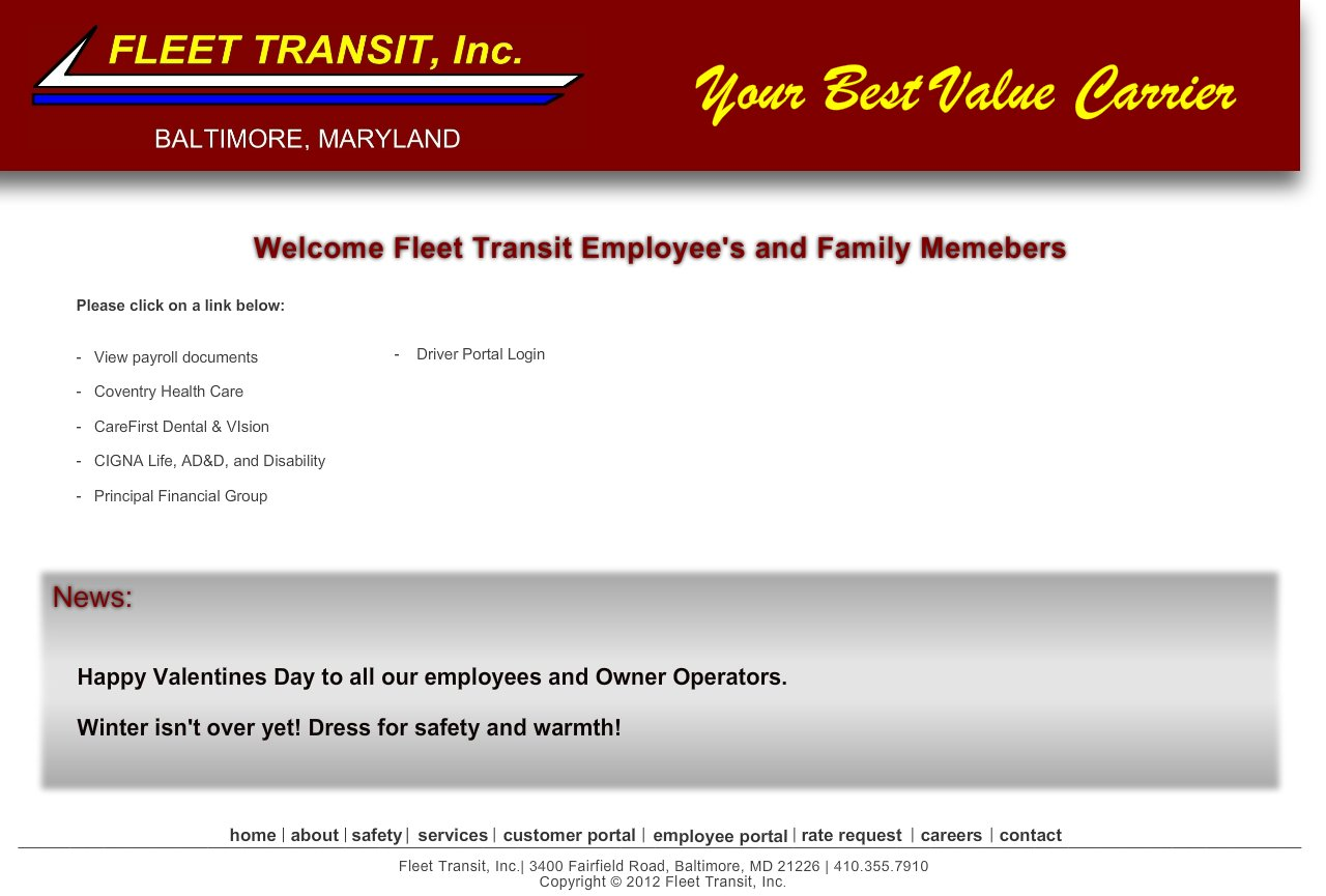Secure Employee Page