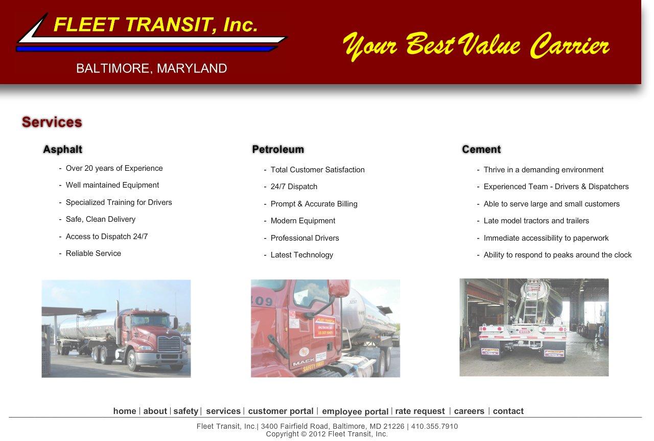 Fleet Transit, Inc  :: Services