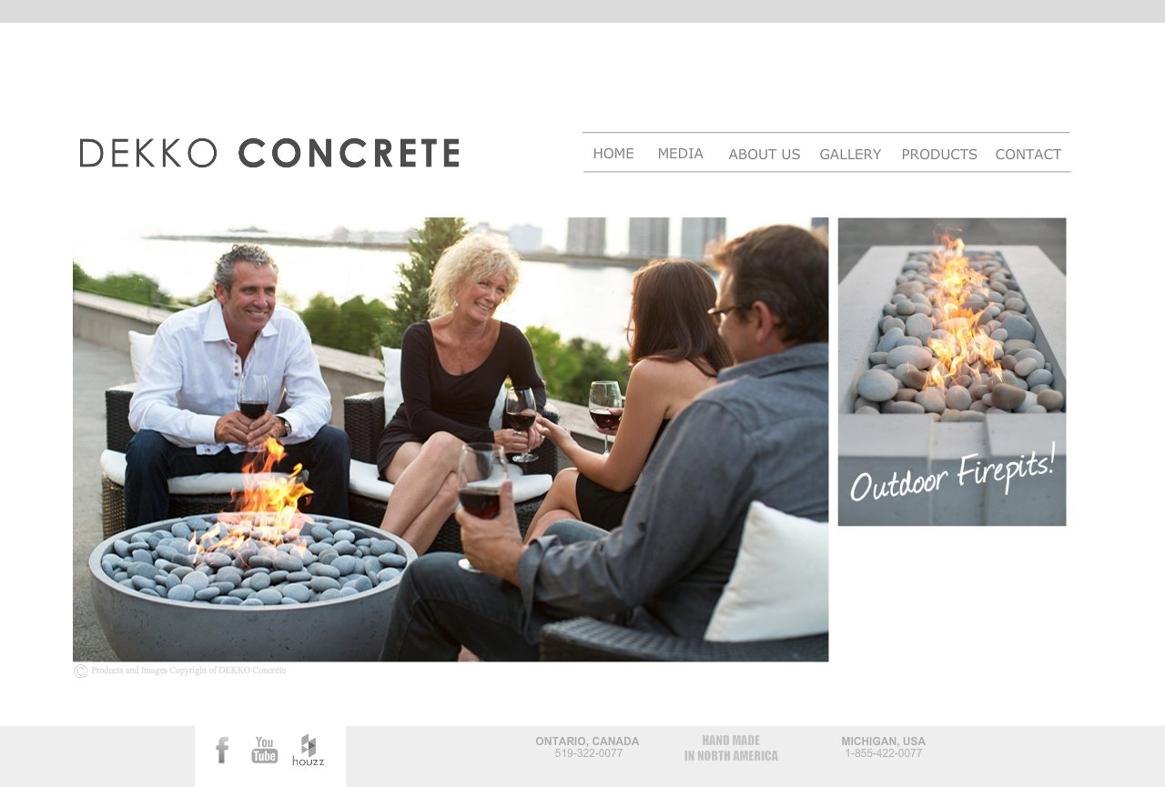 Dekko Concrete Decor, Home Page
