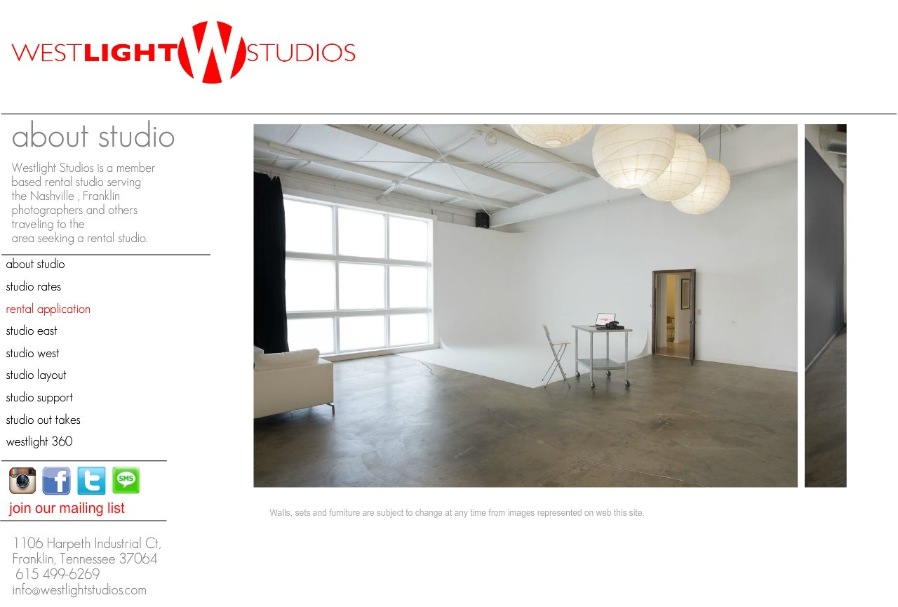nashville studio rental Info Page