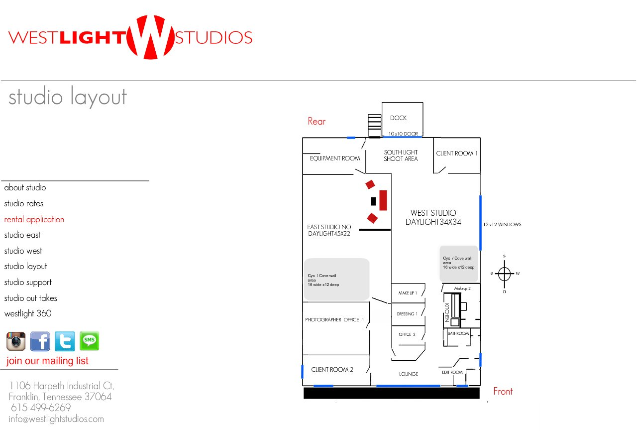 Nashville photography studio rental westlight studios for Photography studio floor plans