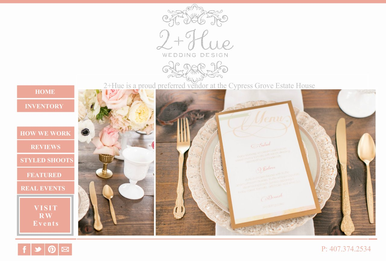 FEATURED WORK- Weddings by 2+Hue , Vintage furniture rental and styling -Orlando, Florida