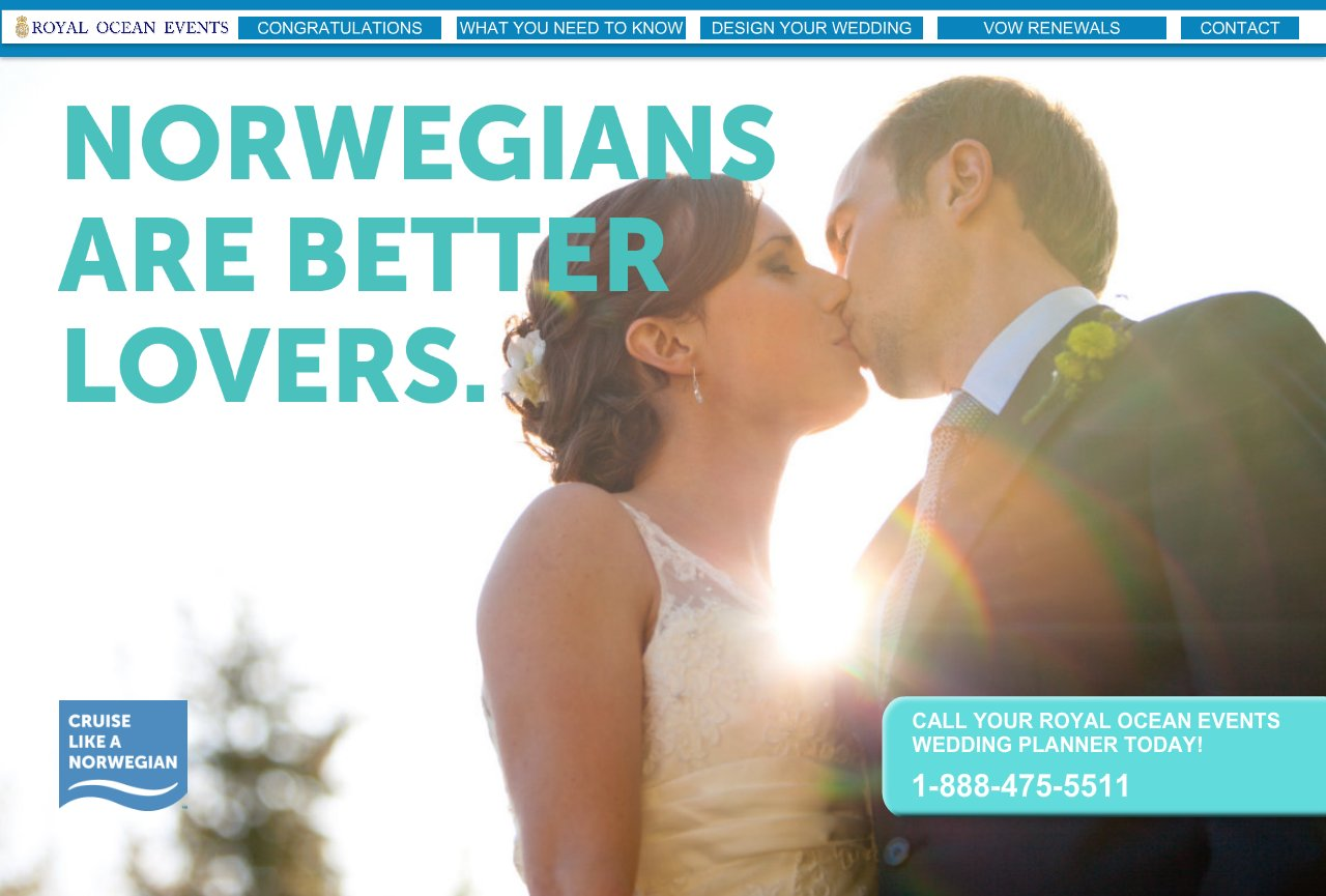 YOUR NORWEGIAN CRUISE LINE WEDDING PLANNER