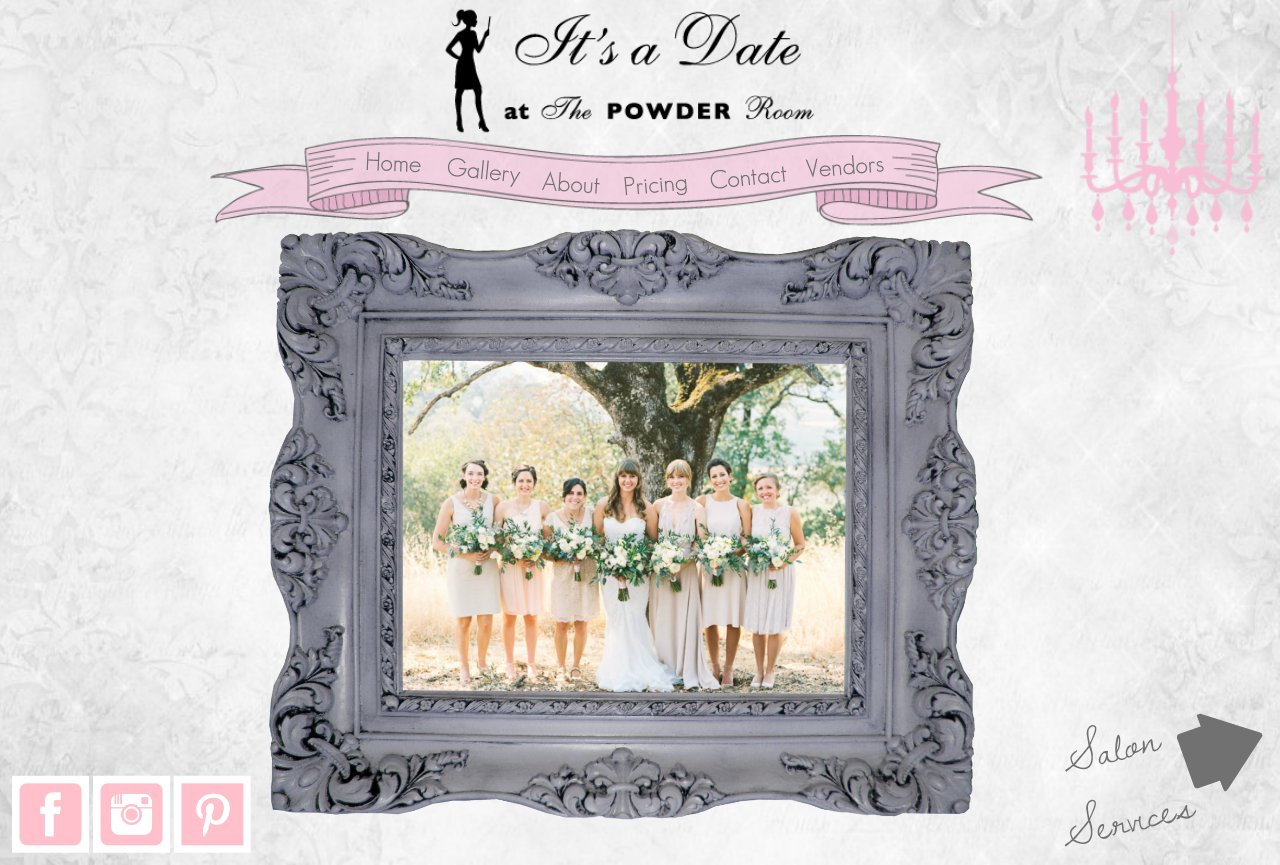 Wedding home page