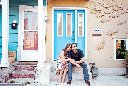 A colourful and stylish engagement shoot in Kensington Market