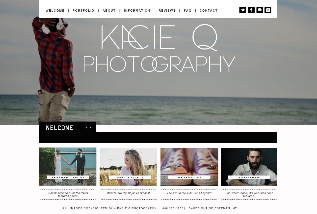 Kacie Q Photography Bozeman Montana Wedding & Senior Photography - Welcome