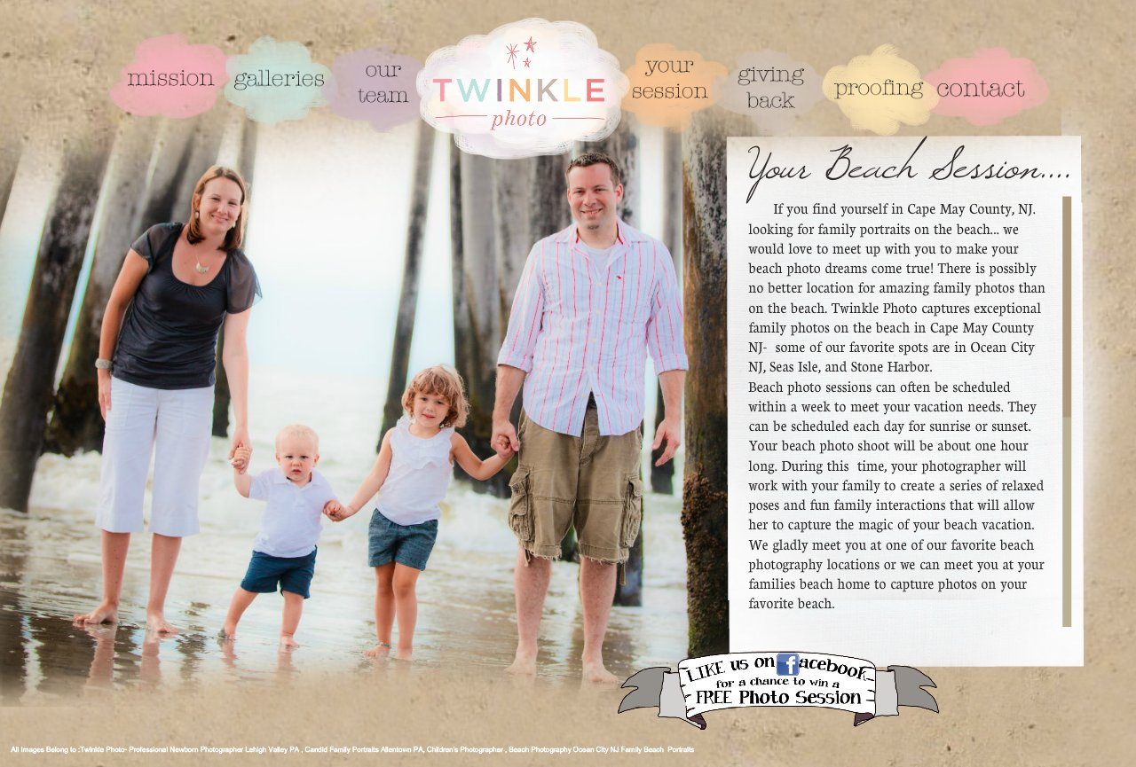 Twinkle Photo Beach Session Ocean City Beach Family Photography