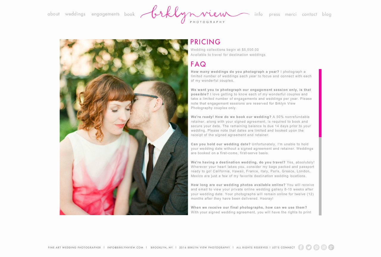 brooklyn wedding photographer : info