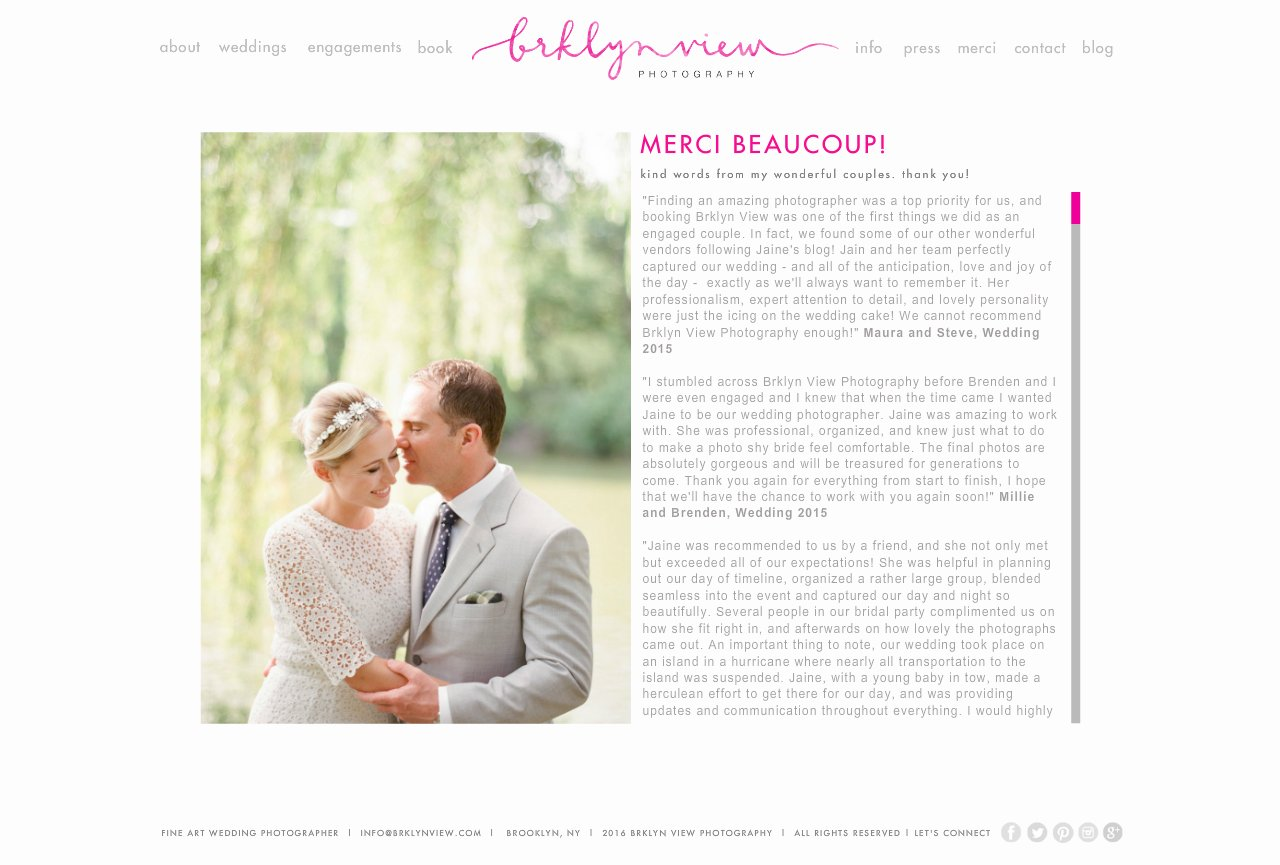 brooklyn wedding photography : merci