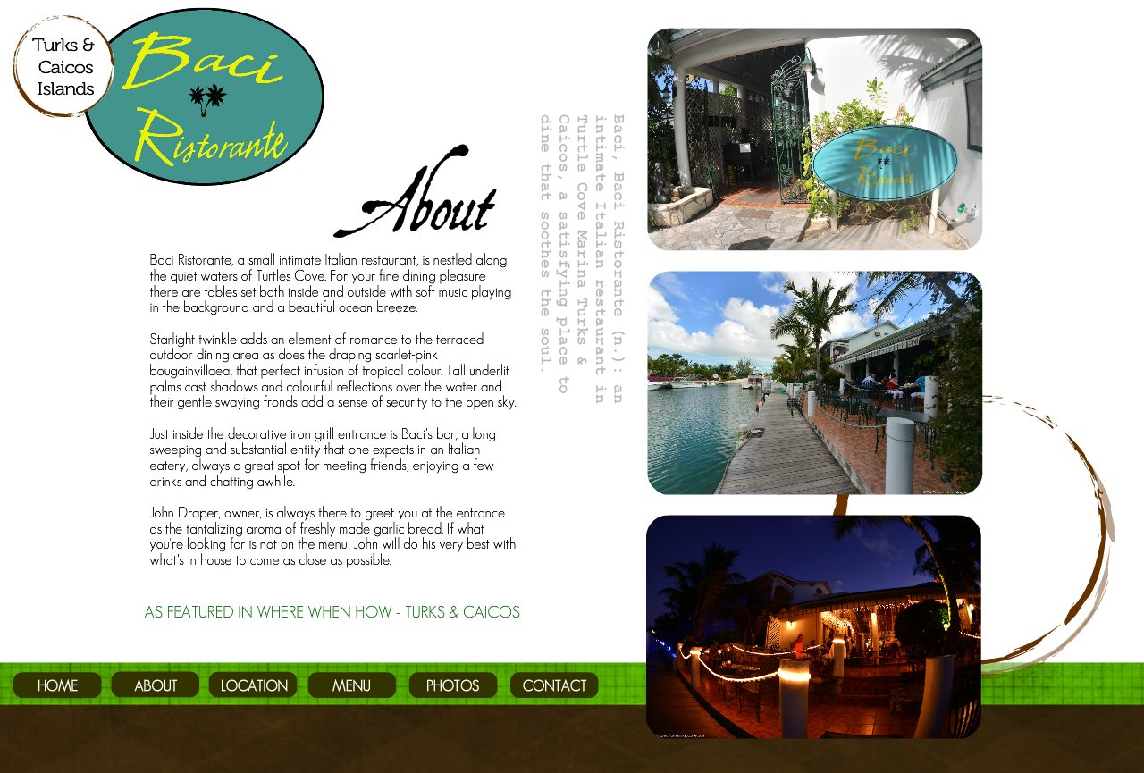 About Baci in Turks & Caicos