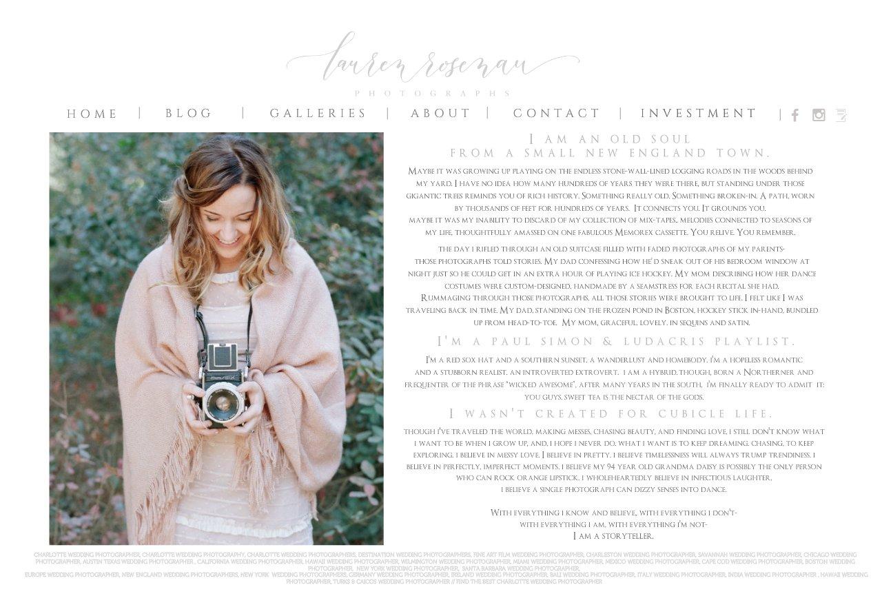LAUREN ROSENAU PHOTOGRAPHY - Wedding Photographer, Fine Art