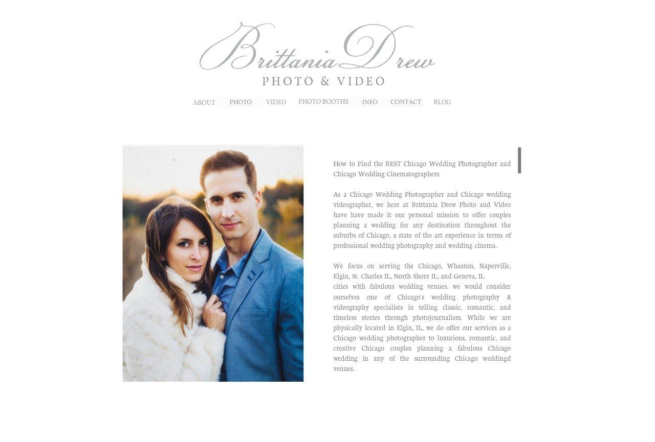 Brittania Drew Chicago Wedding Photographer Videographer Destination About Photographers