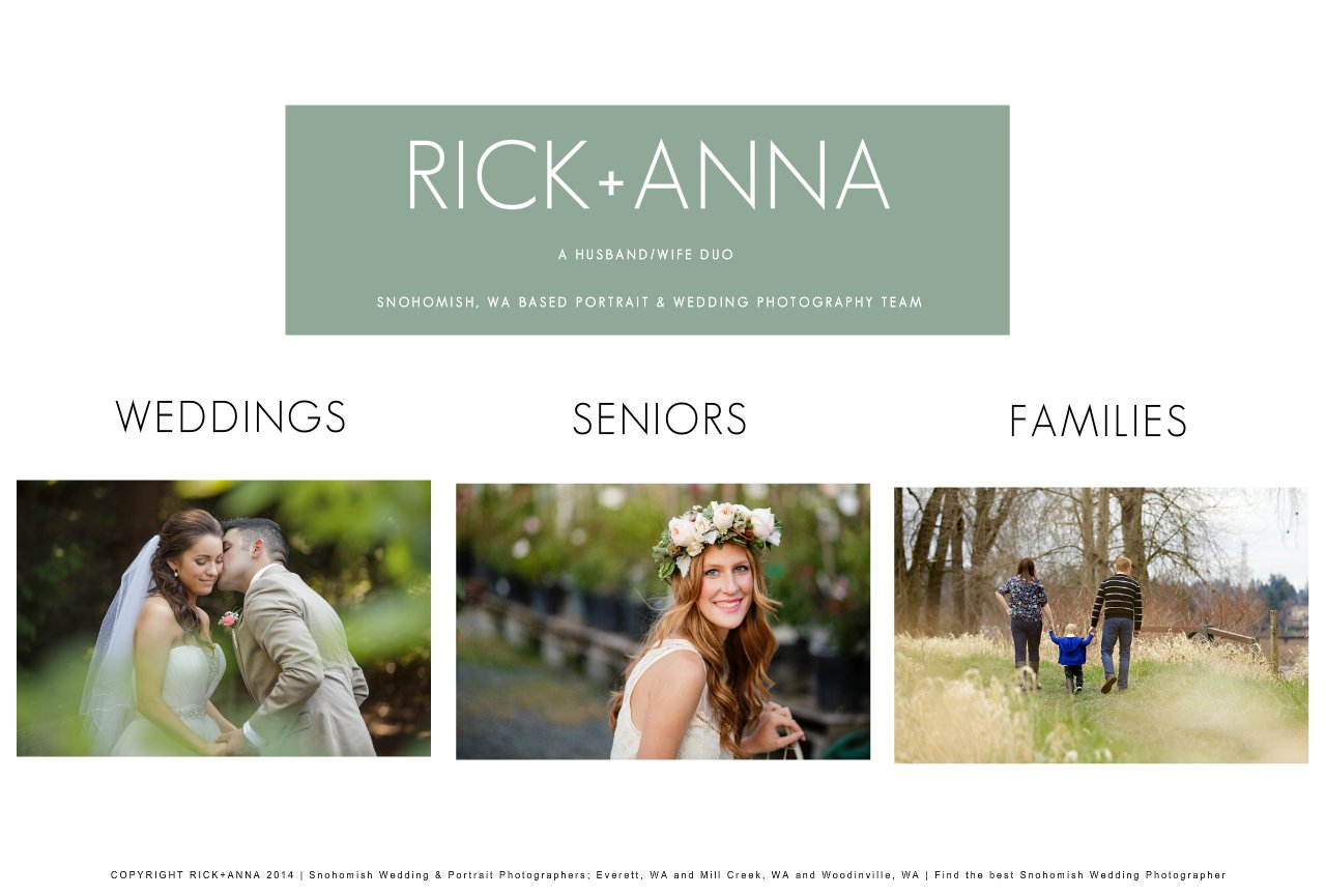 Home of Snohomish Photographers - Rick and Anna
