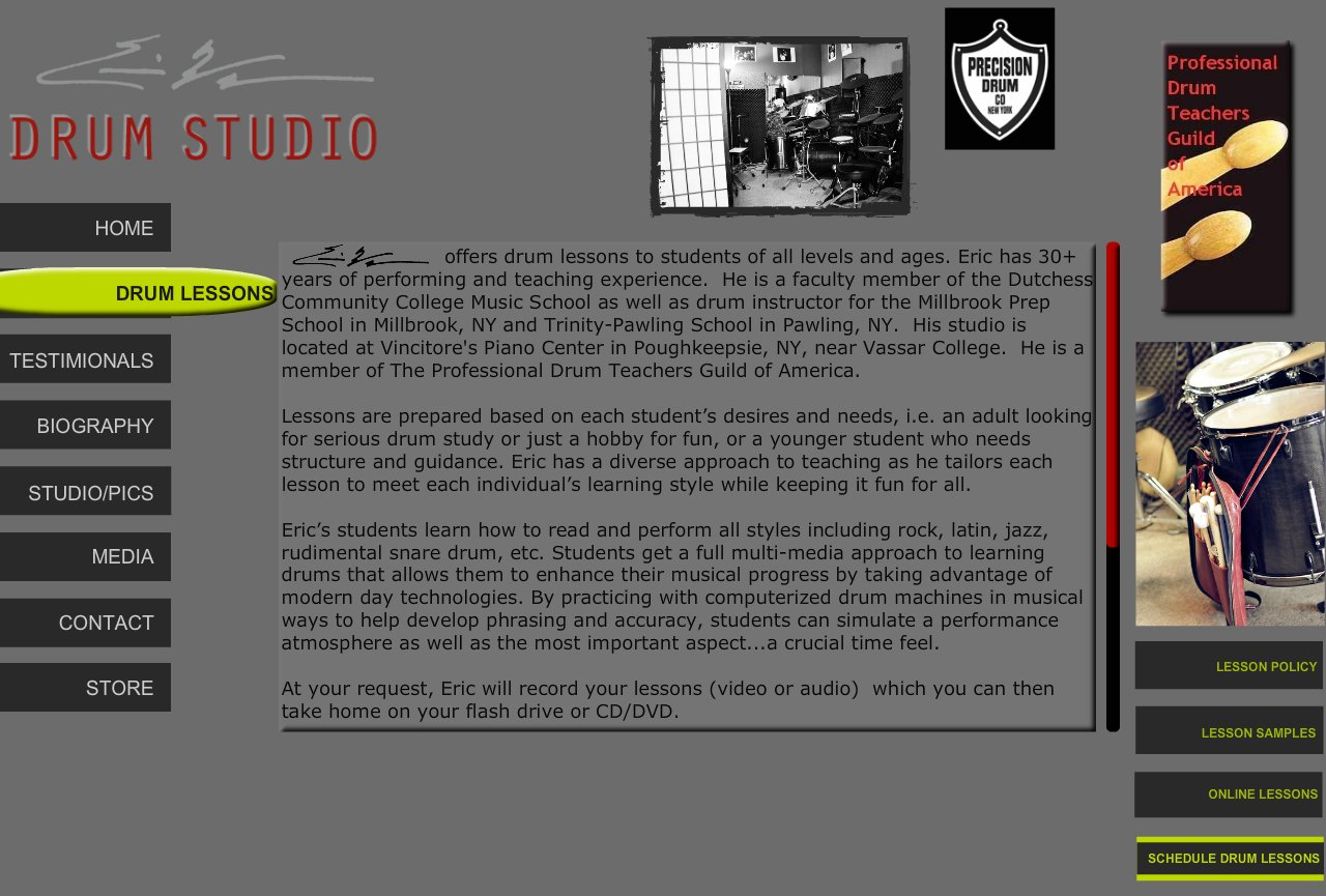 drum lessons at eric wagner drum studio drum lessons. Black Bedroom Furniture Sets. Home Design Ideas