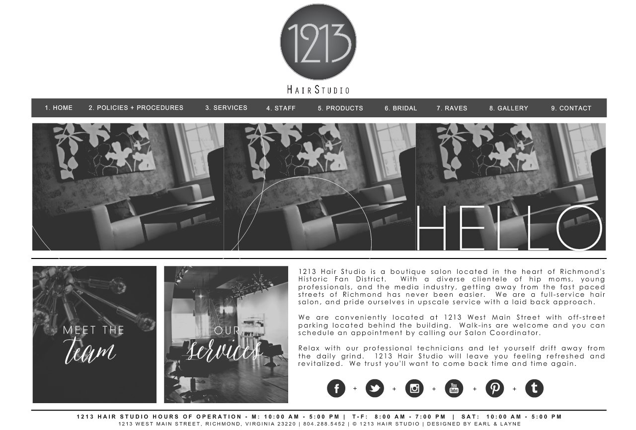 1213 Hair Studio Home