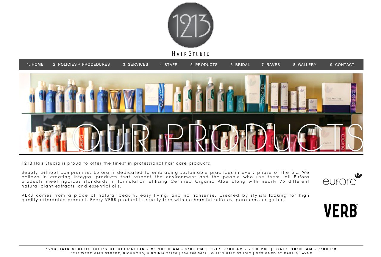 1213 hair studio products for 1213 salon richmond va